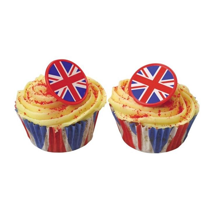 Edible Cake Pop Decorations : Union Jack Rings Culpitt