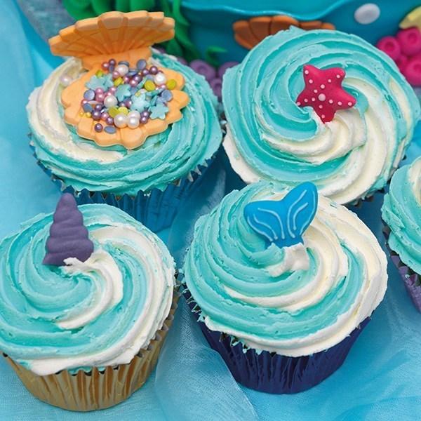 Pack of 12 RP Cake Decorations Rainbows /& Unicorns Sugar Pipings