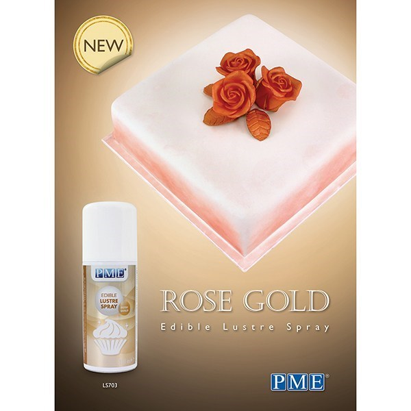 pme edible lustre spray rose gold 100ml culpitt. Black Bedroom Furniture Sets. Home Design Ideas