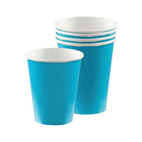 Caribbean Blue Party Cups - Paper - single
