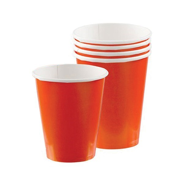 Orange Party Cups - Paper - single