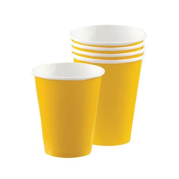 Yellow Paper Cups - 20 piece