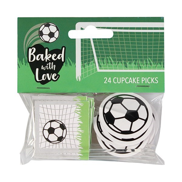 Baked with Love Football Decorative Pic