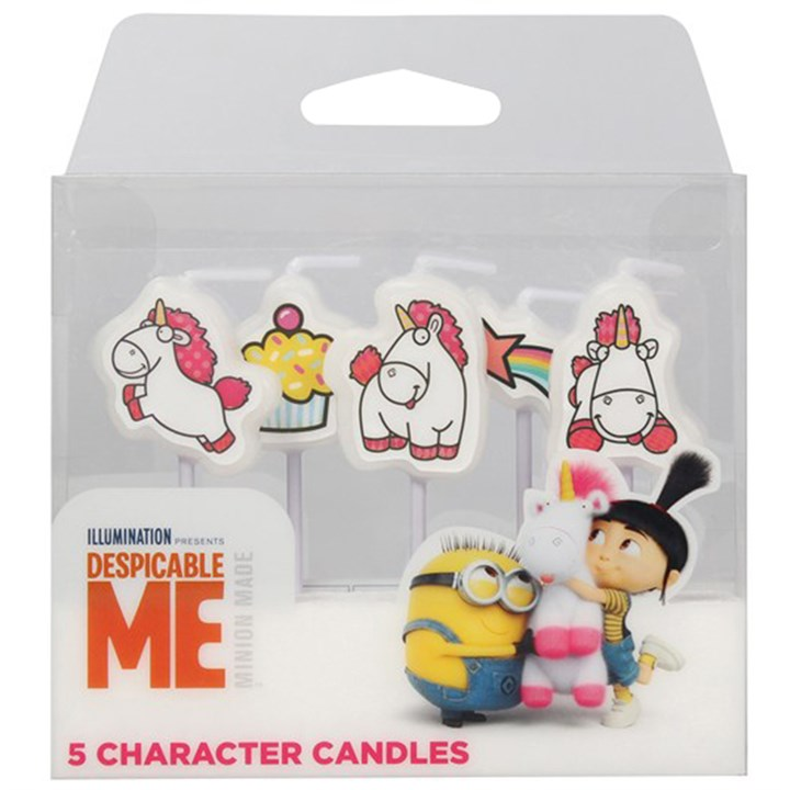 Despicable Me - 5 Minion Fluffy Character Candles - Single Pack