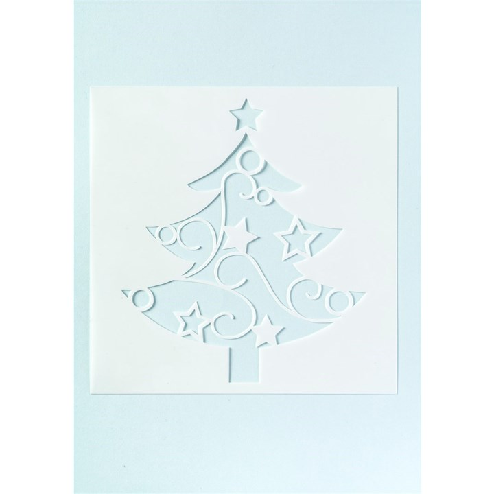 Cake Stencil Designs Free : Culpitt - Christmas Tree Stencil for Full Cake