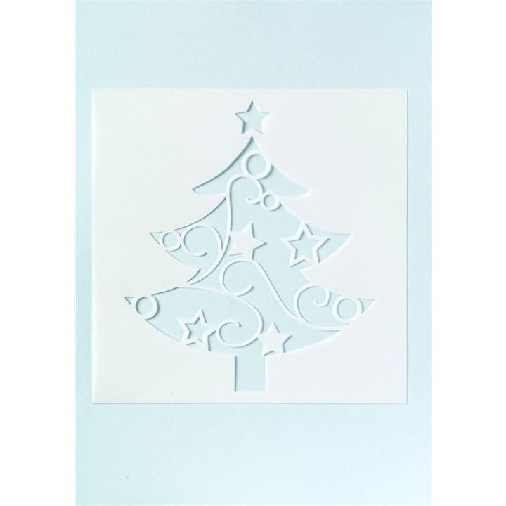 Amazon. Com: 6 pcs/set christmas tree cake stencil, plastic cake.
