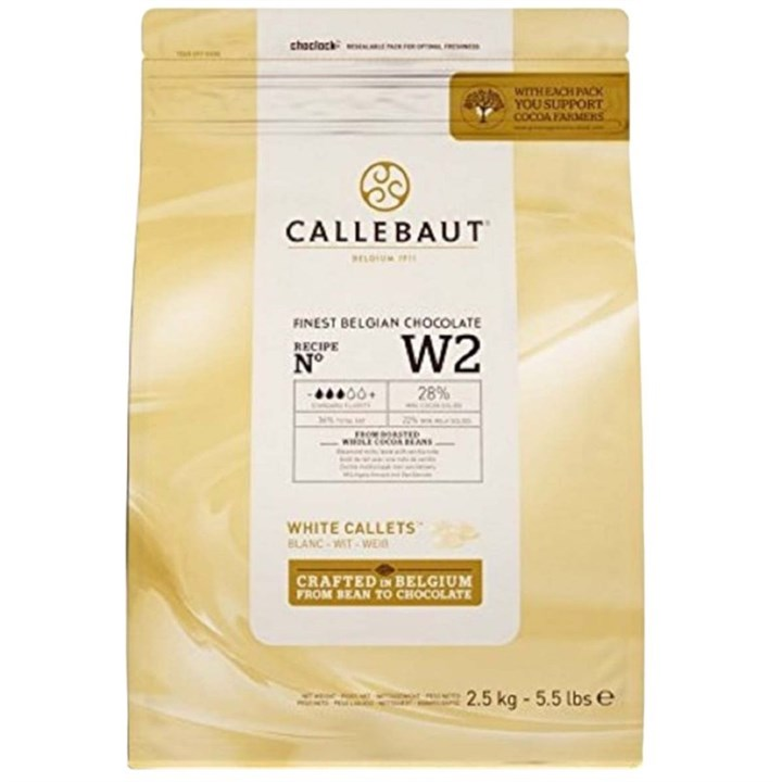 Callebaut Belgian White Chocolate Chips 2.5kg