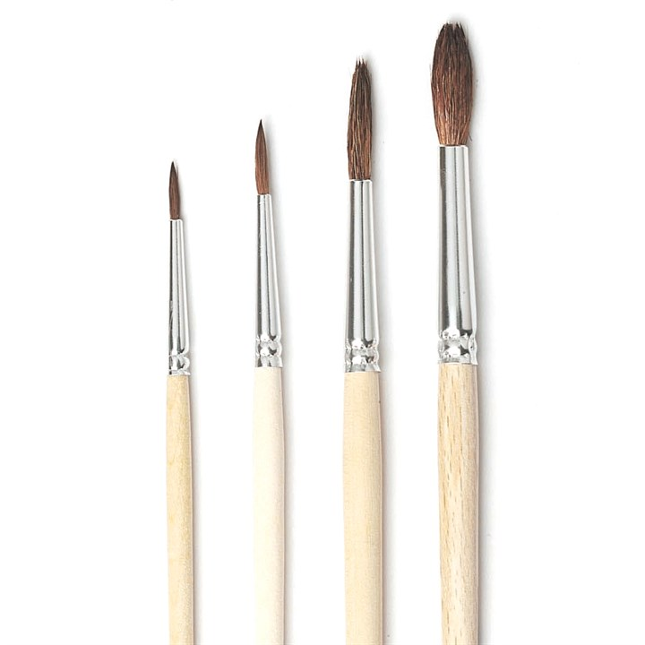 No.8 Artist Brushes - Pony Hair