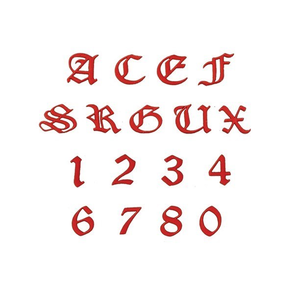 FMM Tappits Old English Alphabet and Number