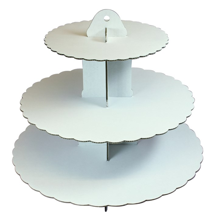 White Cardboard Cake Stand