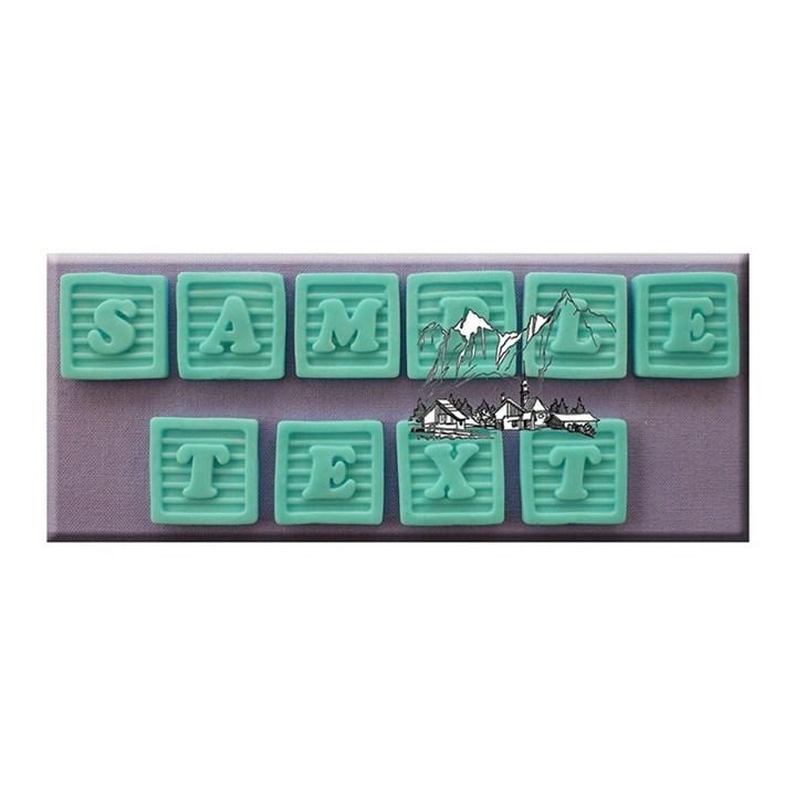 Alphabet moulds baby block front culpitt for Alphabet blocks cake decoration