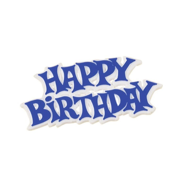 Happy Birthday Blue White Motto Culpitt