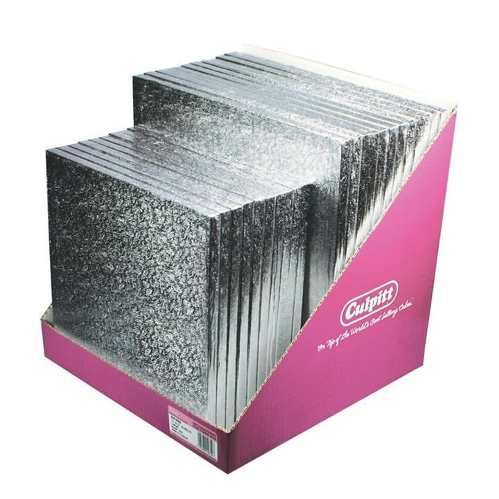 Silver Square Cake Board Pack 12 X 12 And 10 X 10