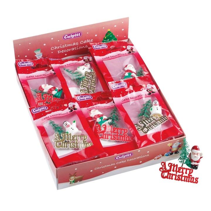 Christmas cake decorations packs assorted culpitt for Christmas decoration packs