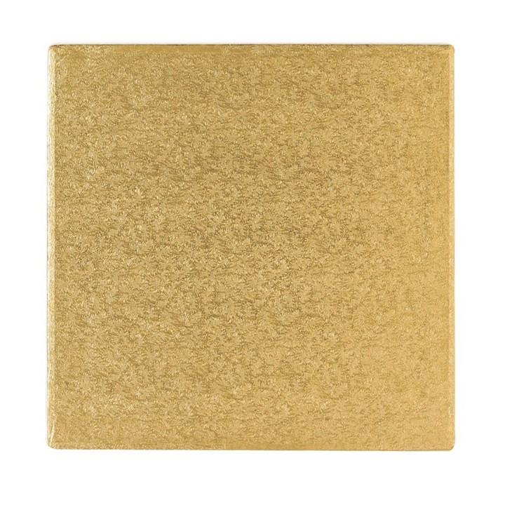 16 406mm Cake Board Square Gold Fern Culpitt