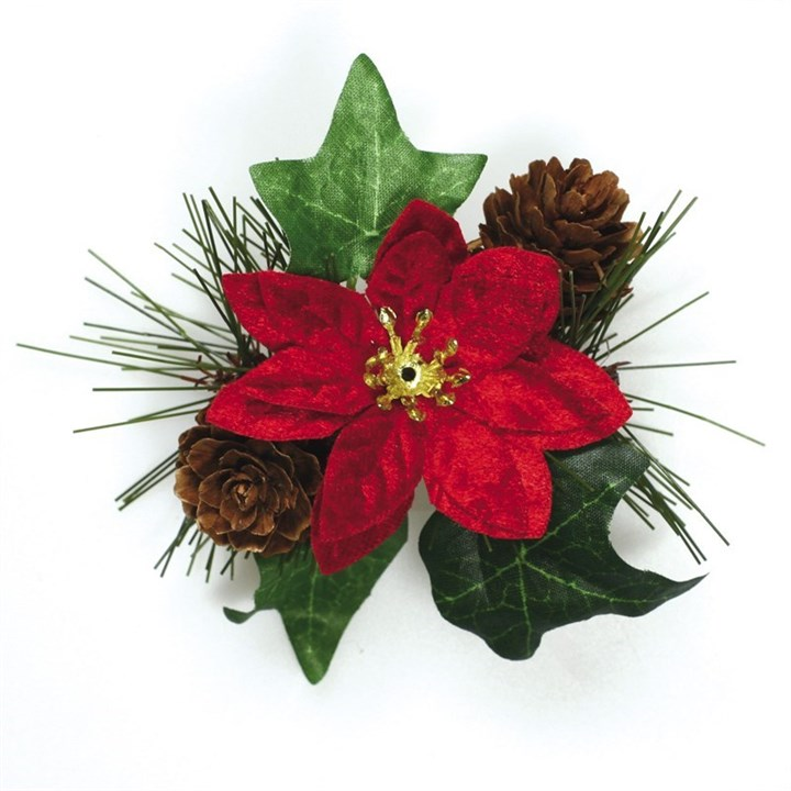 Poinsettia and Ivy Spray