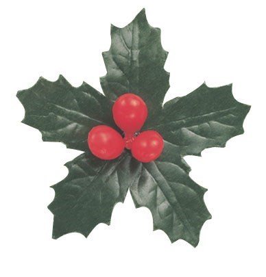 Paper/Plastic Holly 5 Leaf - 70mm