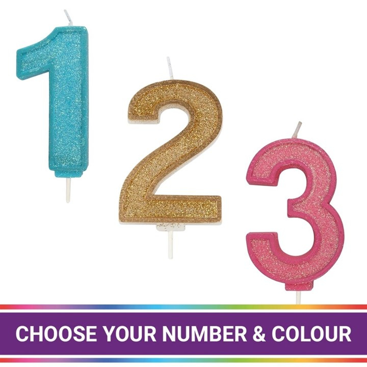 Sparkle Numeral Candles - single