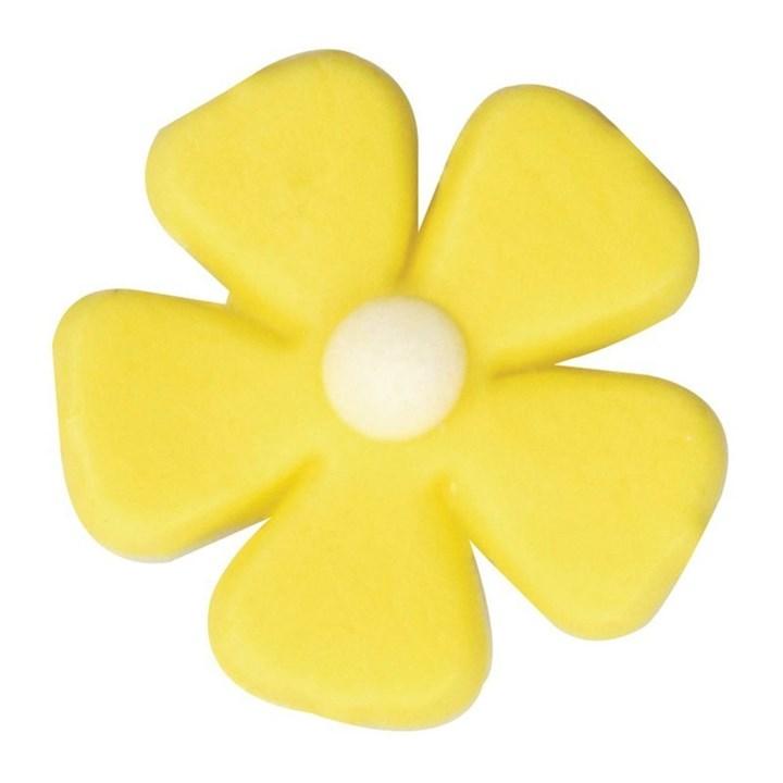 Yellow Five Petal Flower 26mm Culpitt