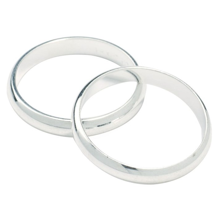Silver Colour Wedding Rings 17mm Culpitt