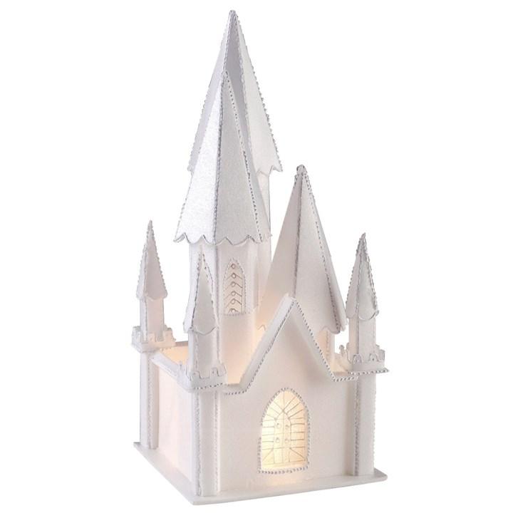 Illuminated Styrofoam Church Culpitt