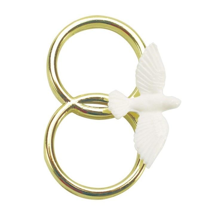 Dove On Double Gold Colour Ring Culpitt
