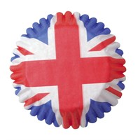 45mm Union Jack Baking Cases - 54 per pack