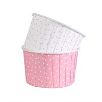 Polka Dot Pink Baking Cups