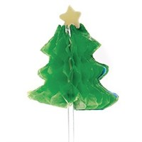 Christmas Tree Green Honeycomb Pic 12 piece 80mm Retail Packed