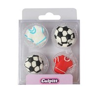 Football & Shirt Sugar Pipings 12 piece