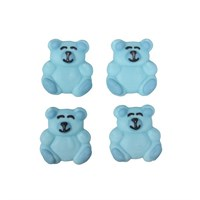 Culpitt Blue Bear sugar Decorations - 12 piece - single