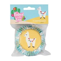Baked with Love Llama Foil Baking Cases