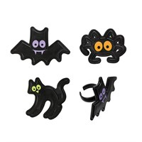 Assorted Halloween Character Rings - 144 / Bag