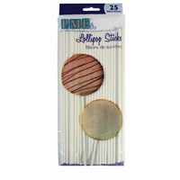 PME Lollipop Sticks 200mm 25 pack