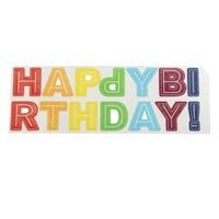 Happy Birthday Letter Wafer Decorations - Bright