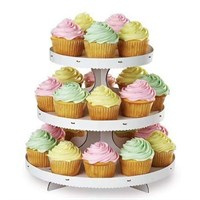 3 Tier White Cupcake Stand by Wilton - Holds 24 Cupcakes