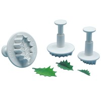 PME Small 3 Set Veined Holly Leaf Plunger