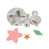 Cake Star Flower Leaf & Star Plunger Cutter - 3 Set