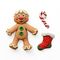 Sugar Buttons Mould - Gingerbread Man