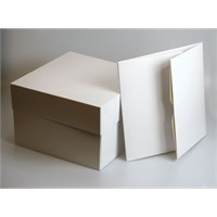 White Cake Boxes - 10'' square (254mm sq.)
