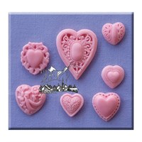 Alphabet Moulds - Patterned Hearts