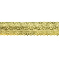 Gold Coloured Embossed Cake Band - 38mm x 50m
