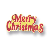 Merry Christmas Red and Gold Coloured Paper Motto