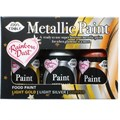 Rainbow Metallic Paint collection - Light Gold, Light Silver and Copper - 3 x 25g