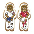 Gingerbread Footballing Lion Sugar Plaques